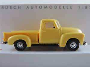 Busch-48283-chevrolet-pick-up-1950-en-amarillo-1-87-h0-nuevo-en-el-embalaje-original