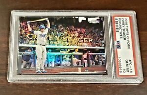 2016 Topps Chrome Corey Seager RC Perspectives PSA 10 GEM 💎 LOW POP! NEW LABEL!
