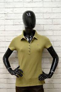 Polo-TOMMY-HILFIGER-Donna-Taglia-L-Maglia-Maglietta-Camicia-Shirt-Woman-Elastico