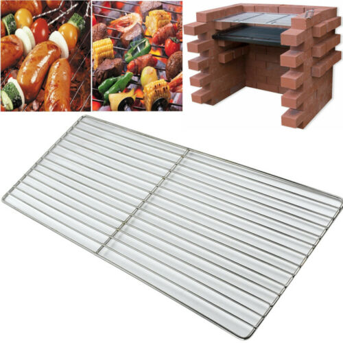UK Stainless Steel BBQ Grill Grate Grid Mesh Rack Picnic Cooking Replacement Net