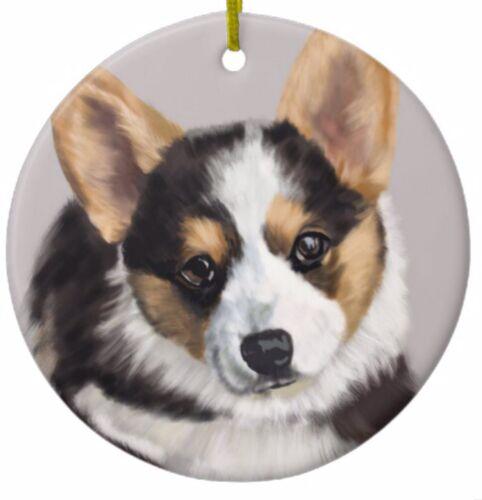 Custom with Name Great as Christmas Gift! Tricolor Corgi Ornament