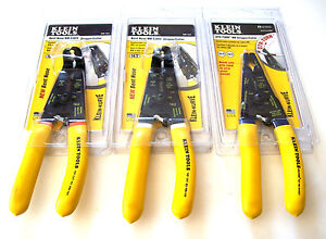 3pc KLEIN TOOLS ROMEX NM CABLE WIRE STRIPPER CUTTER PLIER SET USA ...