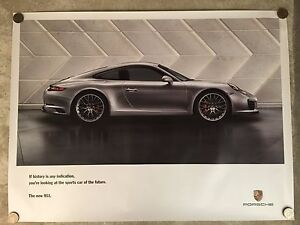 image is loading 2015 porsche 911 coupe showroom advertising sales poster
