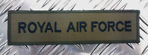 Genuine-British-Army-RAF-039-ROYAL-AIR-FORCE-039-Stripe-Bar-GREEN-Brand-NEW