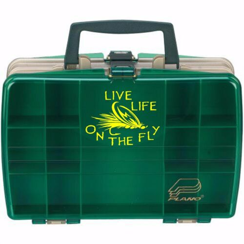 Life on the fly fishing decal in 9 colors