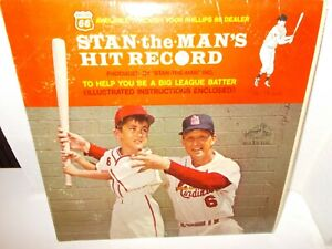 Stan-Musial-Stan-the-Man-039-s-Hit-Record-RCA-Victor-Album-amp-Batting-Instructions