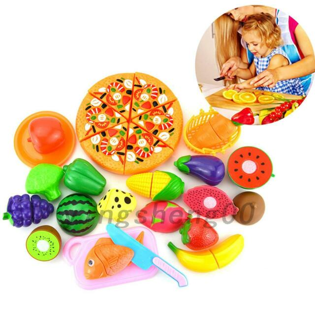 24pcs Kids Toy Pretend Role Play Kitchen Pizza Food Cutting Sets Gift Hot AU