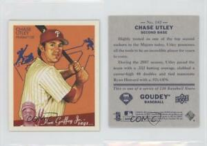Details about 2008 Upper Deck Goudey Mini Blue Back 142 Chase Utley Philadelphia  Phillies Card ad6b18dde