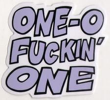 101 - One-O-F*ckin-One Purple Skateboard Sticker - skate board new sk8 bmx