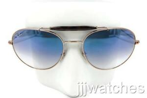 60141e515a5 Details about Ray-Ban Highstreet Bronze Copper Light Blue Gradient  Sunglasses RB3540 90353F 56