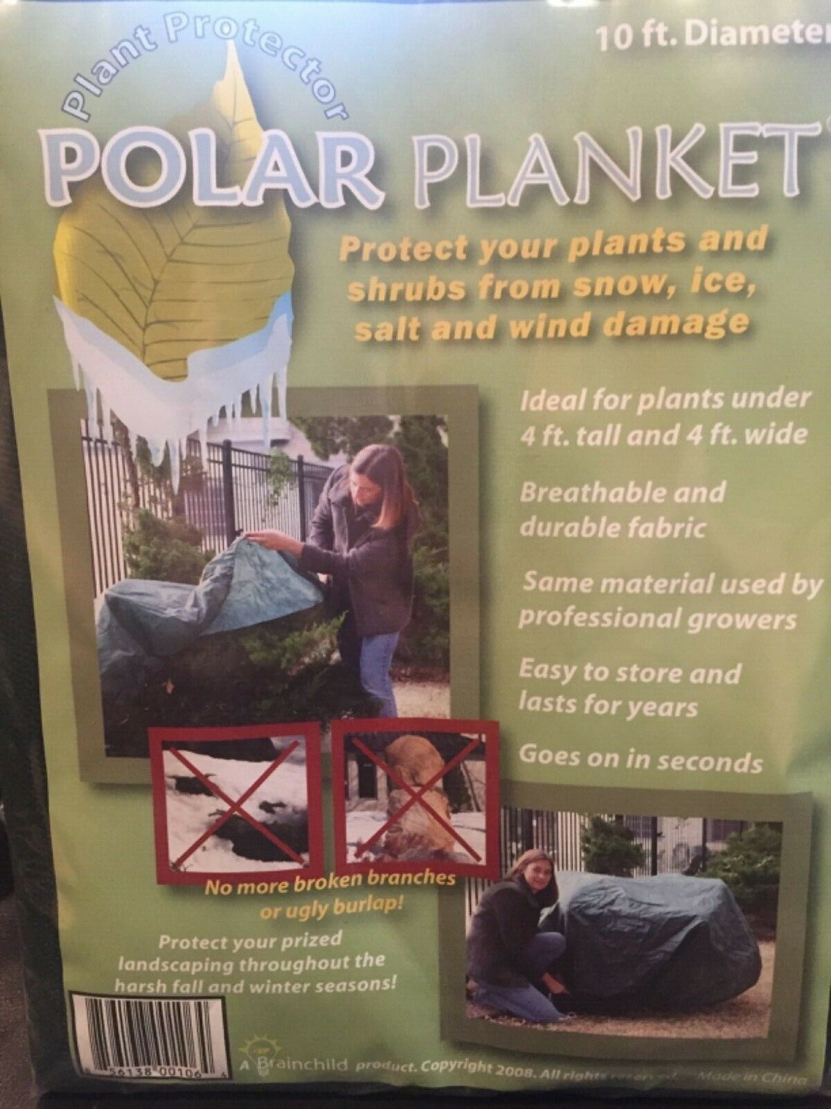 POLAR PLANKET Plant Protector for Fall Winter 10 FT Diameter Breathable Durable