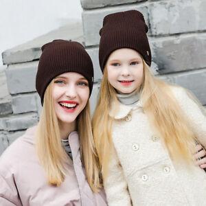 Frauen Kinder Baby Kind Warme Winter Strickmütze Baumwolle Hut