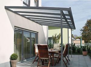GUTTA Terrassenüberdachung, Carport, Größe 546 x 406 cm, weiß ...