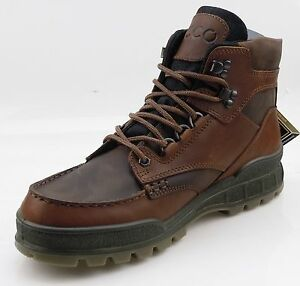 ECCO Track II Mid Mens Casual Hiking Boots GORE-TEX WATERPROOF Brown Leather | eBay