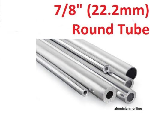 lengths up to 2500mm 2.5m 22.2mm 2 thickness ALUMINIUM ROUND TUBE 7//8
