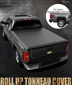 Lock-amp-Roll-Soft-Tonneau-Cover-2014-2018-Chevy-Silverado-GMC-Sierra-6-5-Ft-Bed