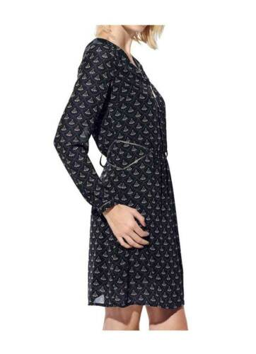 Sand Damen Marine Chiffonkleid 42 36 Designer Tcj Mandarin Kleid Sommerkleid pq0x4nSAw