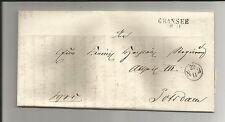 Preussen V / GRANSEE 28.11., L2 o. Dat.-Str. a. Kabinett-Brief m. Inhalt, 1846
