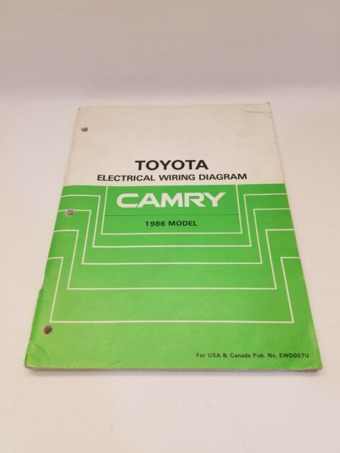 1988 Toyota Camry Factory Electrical Wiring Diagram