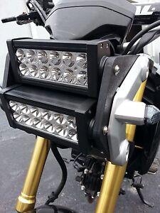 Honda grom msx125 double led light bar headlight conversion kit 2014 image is loading honda grom msx125 double led light bar headlight aloadofball Images