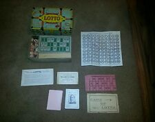 Parker Brothers Lotto Game in travel trunk Box