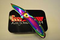 Kershaw Knife Rainbow Chive Folding Knife 1600vib