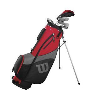 Wilson-ProStaff-SGI-Herren-Golf-Halbsatz-2020-Eisen-5-7-9-SW-Holz-Golfbag-und-PW