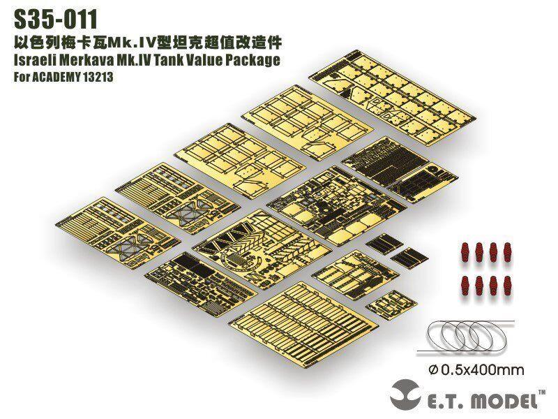 ET Model S35011 1 35 Merkava Mk.IV Detail Up Value Set for Academy 13213