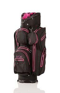 JuCad Bag Aquastop  - schwarz/pink - das wasserdichte Leichtgewicht, Neu!