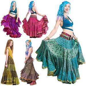 25 yard gypsy belly dance skirt tribal fusion dance skirt hippy