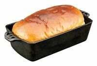 Camp Chef Home Seasoned Cast Iron Bread Pan , New, Free Shipping