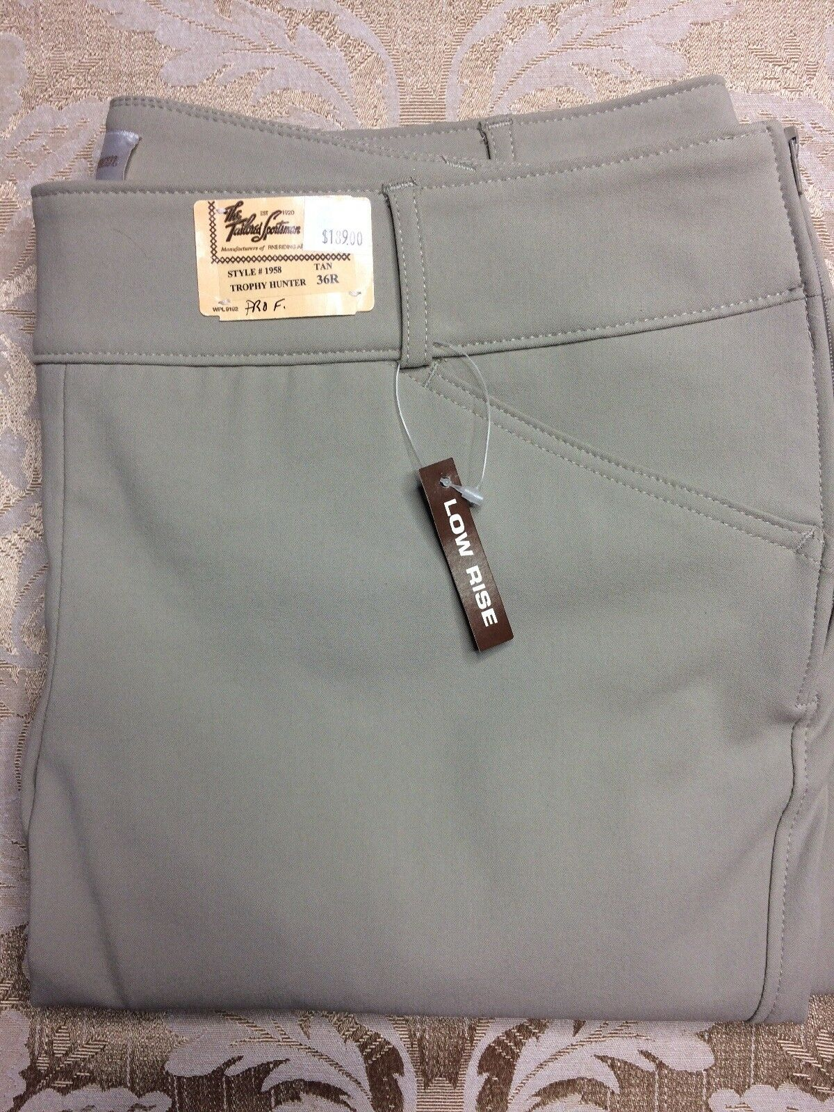 New Tailored Sportsman Trophy Hunter  Professional 36R Low Rise Tan