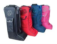 Personalised Embroidered Rhinegold Long Riding Boot Bag With Monogram - Horse
