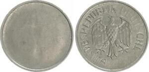 Frg 1 Deutsche Mark Lack Coinage: Only Adlerseite, Wertseite Only Edge Rod Vf-Xf