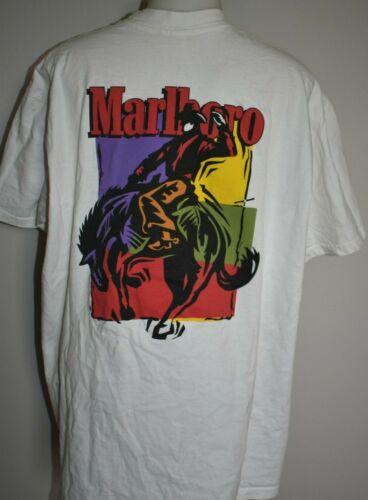 Vintage MARLBORO Cowboy Shirt XL Horse One Pocket