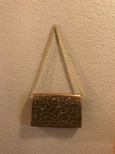 Joan Rivers Collection Gold Jeweled Purse