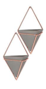 Umbra-Trigg-Konkret-Kunstharz-Metall-Klein-Wand-Vessel-Set-2-Kupfer