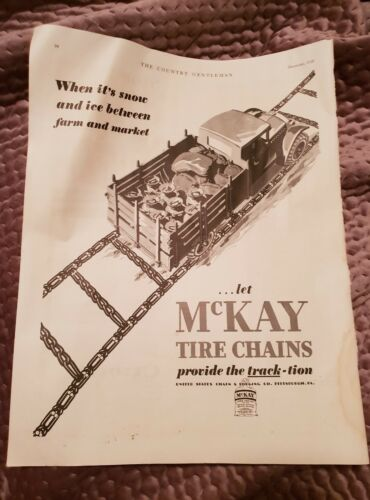 McKay Tyre Chains 1928 Advertisement