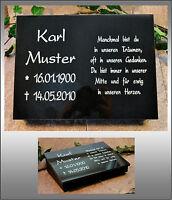 40x30 cm Grabplatte mit Sockel schräg inkl. Inschrift,  Grabstein Gedenkstein