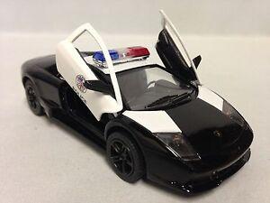 Lamborghini Murcielago Lp 640 4 Police Car 5 Diecast 1 36 Pull