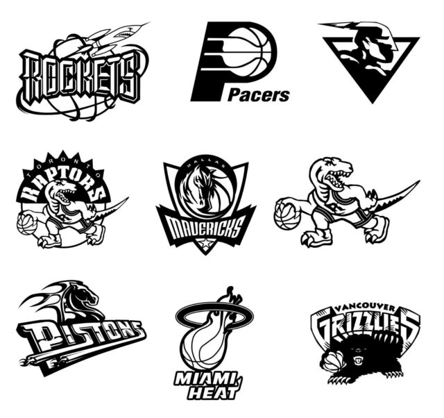 DXF DWG CDR AI EPS File For CNC Plasma or Laser Cut - NBA LOGOS BIG Set (78  pcs)