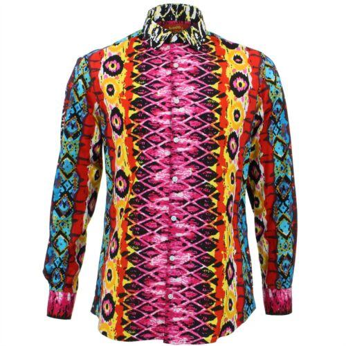 Mens Shirt Loud Originals SLIM FIT Snakeskin Pink Retro Psychedelic Fancy