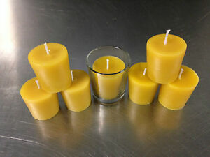 Votive-Candles-7-Pure-Beeswax-100-Bee-Bees-Wax-Only-Made-by-the-Farmer