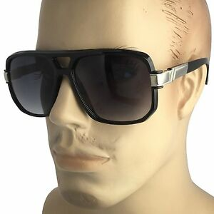cb3fcc4f6 Image is loading Classic-Square-Frame-Plastic-Flat-Top-Aviator-Sunglasses-