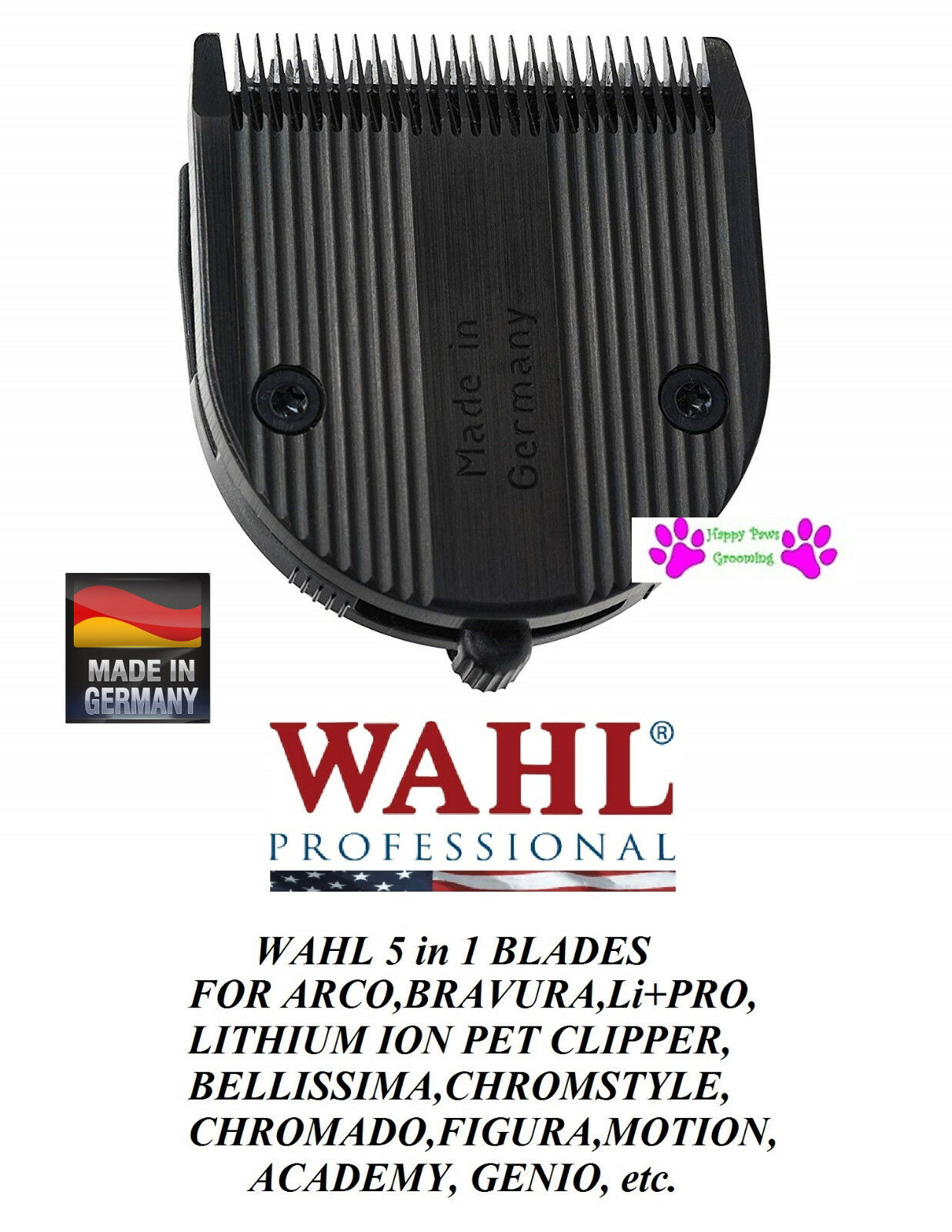 2-Wahl 2-Wahl 2-Wahl Moser 5 in 1 DIAMOND Blade for BELLISSIMA,Genio,Bellina,Beretto,Easystyle 04f699