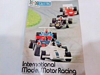 Bescheiden Scalextric Catalogue Magazine 15th Edition International Model Motor Racing 1974 Bespaar Zonder Kosten