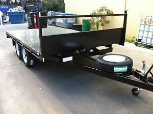 Table-Top-Flat-bed-Trailer-TANDEM-AXLE-3-5X2090-DECK-2T-ROLLER-ROCKER-SPRINGS