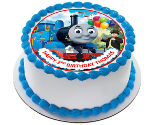 Fantastic Thomas The Tank Engine Cake Topper Edible Icing Personalized Image Personalised Birthday Cards Sponlily Jamesorg