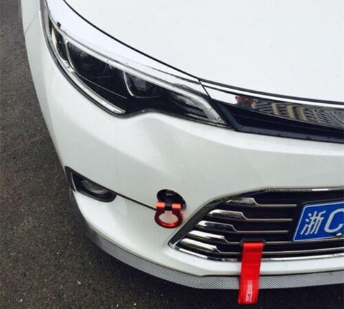 Red CNC Aluminum Front Rear Bumper Tow Hook Trailer Tow Bar for JDM Racing Car