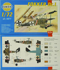 SMER FOKKER DR.1,Dreidecker WW I,Richthofens Flugzeug Bausatz 1:72,0877,OVP,NEU